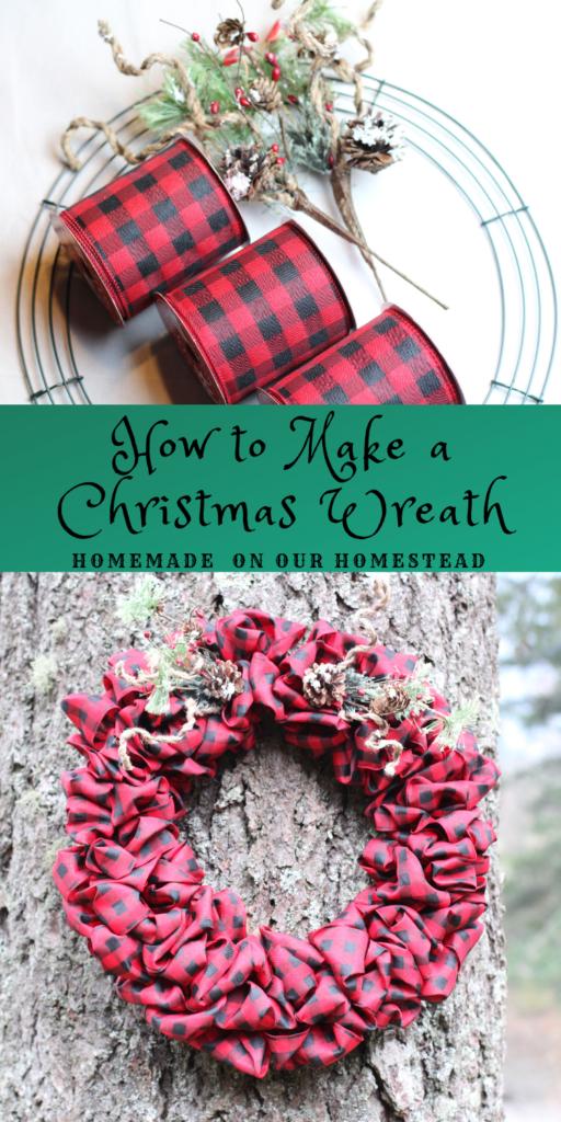 how to make a Christmas wreath how to make a holiday wreath how to make a wreath from door wreath holiday decorations DIY holiday decorations