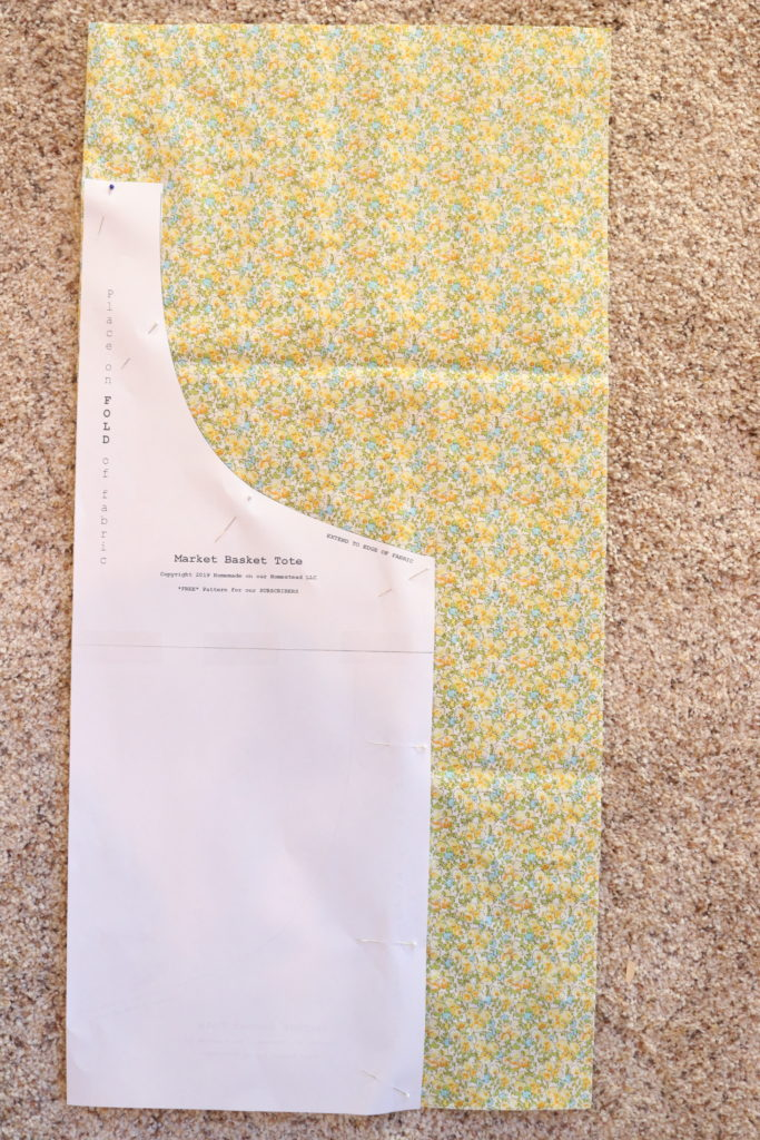Market Basket Tote | Easy Sewing Project | How to Sew a Tote Bag | FREE Subscriber Pattern