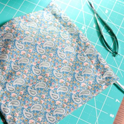 How to SEW a REUSABLE Face Mask with FILTER POCKET | BATCH SEW Medical Mask
