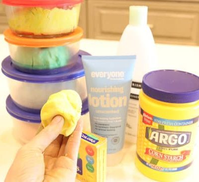DIY Cloud Dough | Easy cloud dough recipe with only 2 ingredients