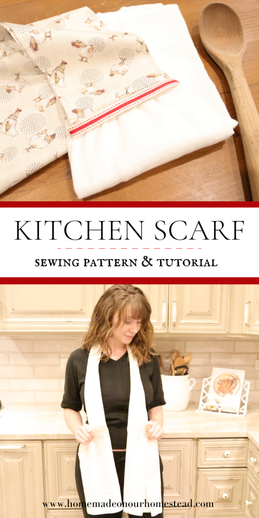 How To Make A Simple Kitchen Scarf Homemade On Our Homestead