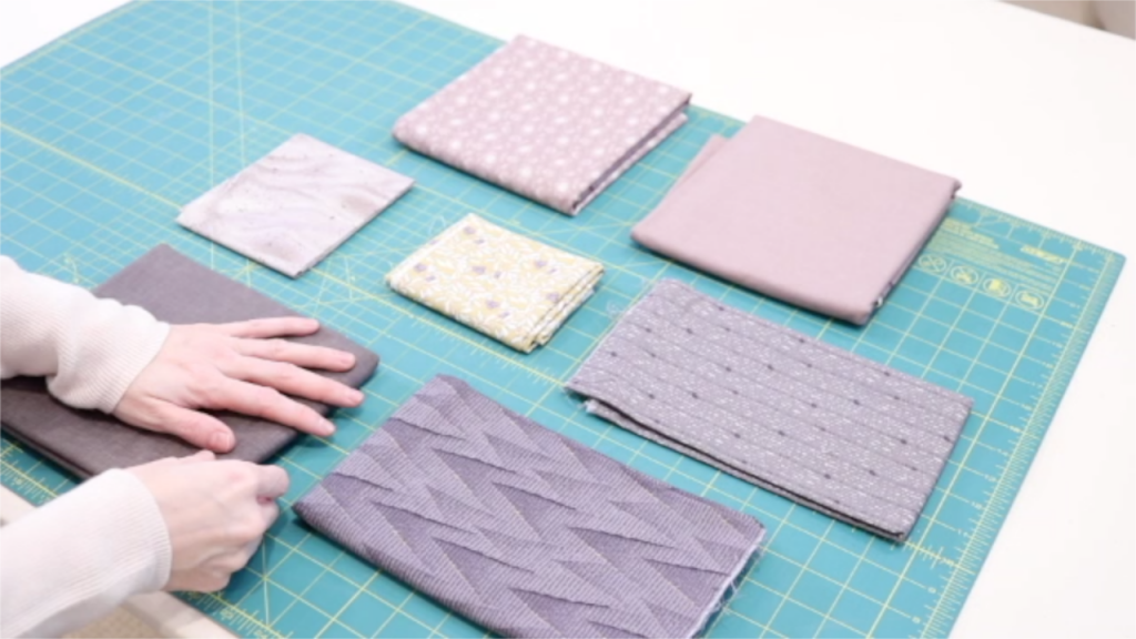 arranging your fabrics for your block