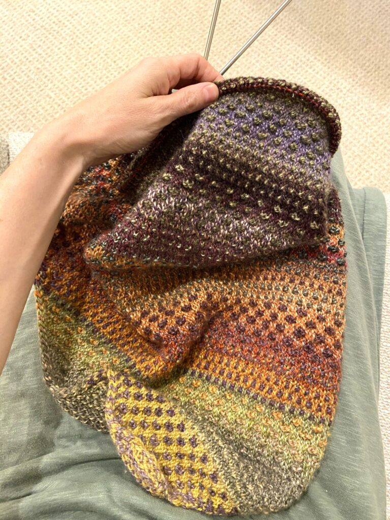 knitting the Shift Cowl by Andrea Mowry for Drea Rene Knits